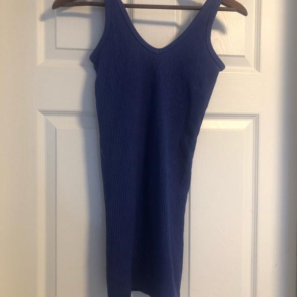 Royal Blue ribbed dress